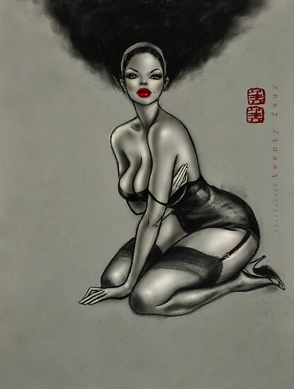 t w e n t y . f o u r ( gil elvgren pin up girl) by mimi yoon