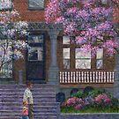 Philadelphia Street in Spring by Susan Savad