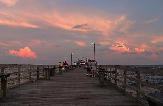 Sunset Fishing by Ree  Reid