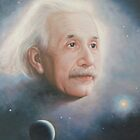 Albert Einstein oil painting portrait by diasha