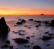 Ailsa craig sunset - South west Ayrshire coast Scotland by Grant Glendinning