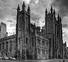 School of Divinity - B&W by Tom Gomez