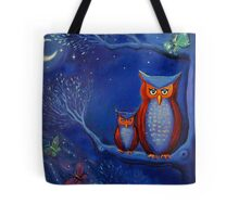 The Forest At Night - Owl Art  Tote Bag