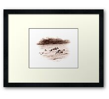 Wolfhounds Coursing Framed Print