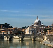 St. Peters Ponte Saint Angelo - Rome by Erin Kanoa