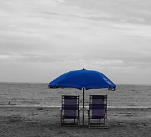 Blue Umbrella by Walter Collazo