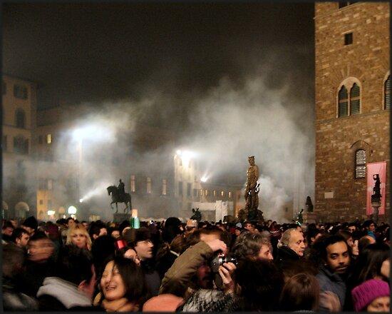 New Year, Piazza della Signoria, Florence 2005 by Andrew Jones