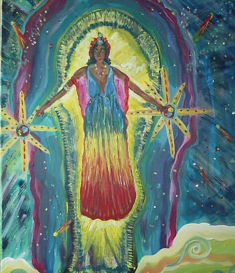 Keeper of the light  16x20 acrylic on canvas by eoconnor