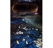 Flowing Time, The Subway, Zion National Park Photographic Print