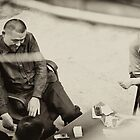 Friendly Game of Cards- Modern China by Aric Berger