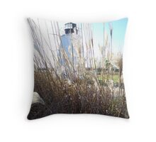 Piney Point Lighthouse Southern Maryland Throw Pillow