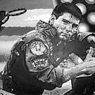 Top Gun iconic piece with Tom Cruise by artist Debbie Boyle - db artstudio by Deborah Boyle