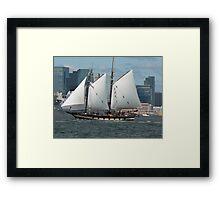 Dutch Leeboard Sailboats Framed Print