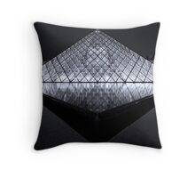 The Louvre at Night Throw Pillow