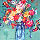 Daisies, Gladiola And Begonias. by Richard  Tuvey