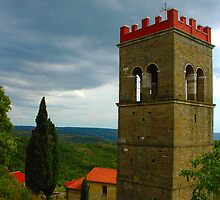 """Temples - """"Istrian campanile (HR)"""" by Denis Molodkin"""
