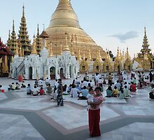 Swedagon Pagoda Rangoon, Mother and child by liqwidrok