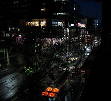 Melbourne nightlife - Swanston St Melbourne by belle76