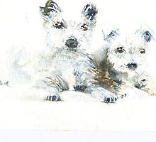 'Two Wee Westies' by fi-ceramics