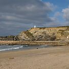 Portreath Panoramic View: Cornwall UK by DonDavisUK