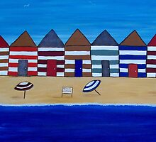 Beach Shacks by Julie  Sutherland