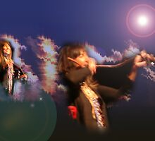 Buffy Sainte-Marie Playing the Mouthbow by Tim  Mammel