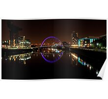 Clyde arc bridge at night Poster