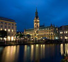 Hamburg Town Hall by Night by espanek