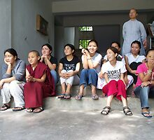 Girls Outside the Girls' Hostel by Angie Spicer