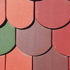 a roof with a colorful plane tiles by robertpatrick