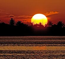 Sunset over Clearwater by John Glass