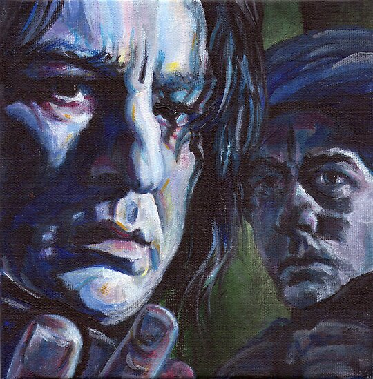 Severus Snape portrait - harry potter by iszi