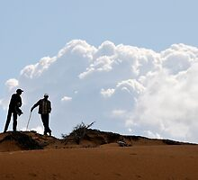 Two men on top of a dune by Gavinmc