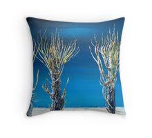 Dutch Pollard Willows (Collage) Throw Pillow