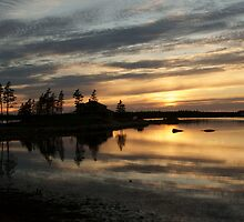Mirrored calm by Jean Knowles