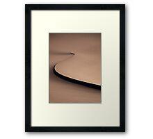 Desert spiral Framed Print
