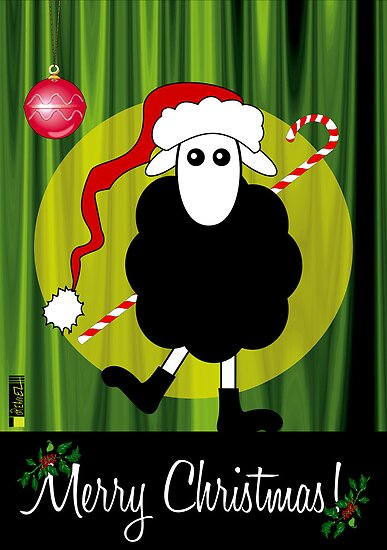 Merry Christmas Black Sheep by Eleni Dreamel