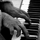 Piano Man - Human Collection - Venice, California by Monica DeShaw