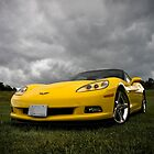 Yellow Photography Transportation Car Corvette C6 mellow by LongbowX