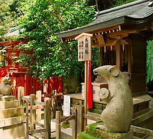 Figures at Otoyo Shrine  by jojobob