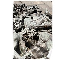 Warsaw Poland - Monument to the Heroes of the Ghetto Poster