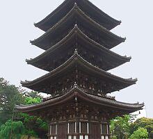 Five Storied Pagoda at Nara  by jojobob