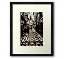 passage Jouffroy, Boulevard Montmartre, Paris Framed Print