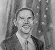 Obama Pencil Portrait by A. F. Branco