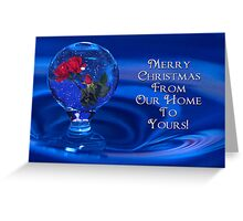 Water Drop SnowGlobe Greeting Card