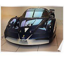 "Blue ""Blu Tour de France"" Ferrari FXX, Front View, Maranello, Italy Poster"