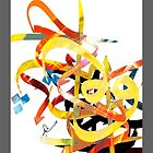 Abstract Art - Calligraphy by Khalid  Shahin