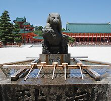 Purifiaction Fountain, Heian-Jingu  by jojobob