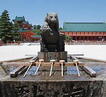 Purifiaction Fountain, Heian-Jingu  by jojobob