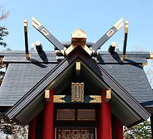 Shinto Shrine at Mount Fuji 5th Station  by jojobob